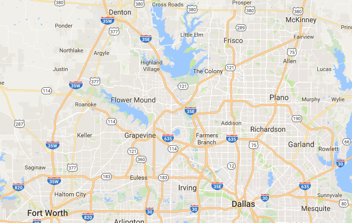 Home Inspection Plano Texas Area Map